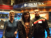 On the set of CBS News