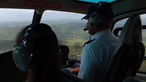 Click for YouTube video: After flying into the international airport, we took a helicopter ride to the other end of St. Lucia