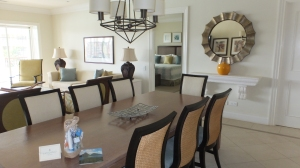Living/dining room plus second bedroom at The Landings.